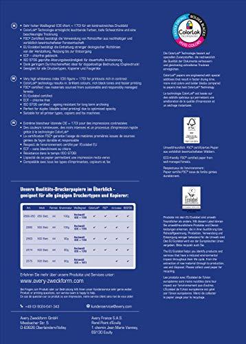 Avery 2566 - Papel (DIN A4, 100 g/m², 500 hojas) : Ideal para uso multiusos en la oficina o en casa Papel de alta calidad para una impresión suave Para resultados de impresión fiables y buenos