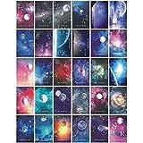 Anyingkai Juego de 30 hojas de postales, con refranes y motivación, tarjetas postales románticas, diferentes postales, paisajes, postales, refranes, tarjetas postales