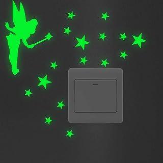 HLKHLC Wall Sticker Cartoon Luminous Switch Sticker Glow In The Dark Wall Stickers Home Decor Kids Room Decoration Sticker...