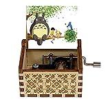 Caja De Música De Totoro Tematica Friends Juguete Musical con Manivela Tallado De Madera Niños Y Amigos