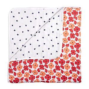 aden + anais White Label Dream Blanket | Boutique Muslin Baby Blankets for Girls & Boys | Ideal Newborn Nursery & Crib Bedding | Plush Toddler & Infant Blankets | Shower & Registry Gift Items|Flora