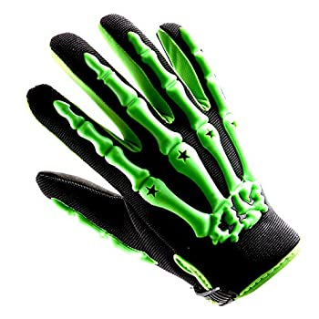Youth Motocross Gloves Motorcycle BMX MX ATV Dirt Bike Bicycle Skeleton Cycling Kids Gloves Green