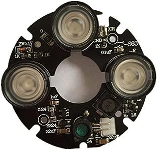 TOOGOO 3 Array IR led Spot Light Infrared 3X IR LED Board for CCTV Cameras Night Vision (53mm Diameter)