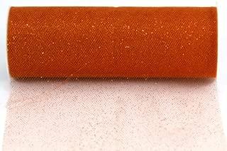 Kel-Toy Glitter Tulle Fabric, 6-Inch by 10-Yard, Orange
