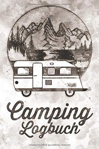 Camping Logbuch: Wohnwagen Reisetagebuch - Camper Wohnmobil Reise Buch - Reisemobil Tagebuch - Caravan Notizbuch Motiv: Vintage Aquarell