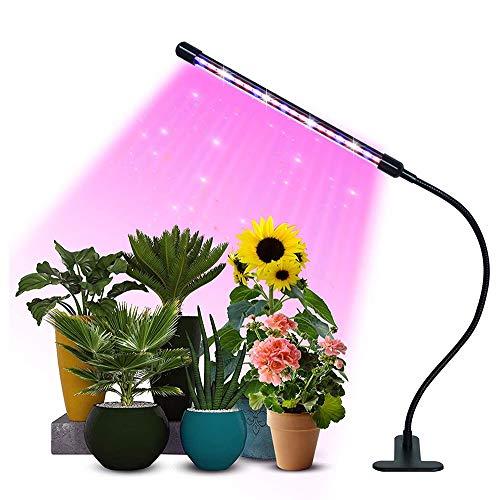 ZGNB Lámpara de Planta Espectro Completo Lámpara de Cultivo LED Regulable 360° Lámpara de Plantas Crecimiento,9 Brillo 3 Modos,con Temporizador de Encendido 3/9/12 H