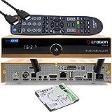 OCTAGON SF8008 4K UHD HDR Combo Receiver Limited Gold Edition DVB-S2X & DVB-C/ DVB-T2, satellite, cavo / segnale terrestre, E2 Linux IPTV Smart TV Box, funzione di registrazione, WiFi [1TB interna]