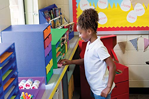 """Classroom Keepers Poster & Roll Storage, Blue, 24""""H x 12-1/4""""W x 12-1/4""""D, 1 Piece Photo #3"""