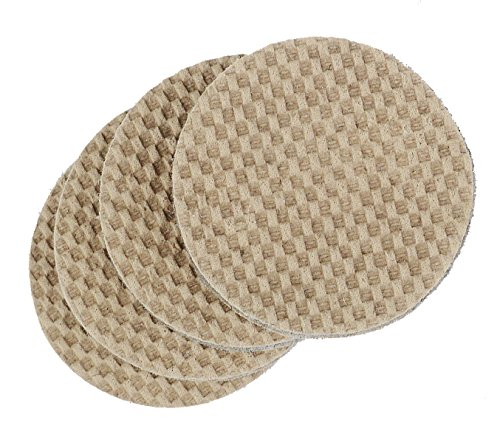 DURA-GRIP Heavy Duty 4' Round, 3/8' Thick Non-Slip Rubber (No Glue or Nails) Furniture Floor Pads, Protectors-Set of 8