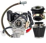 GY6(150cc) Carburetor for 150cc 125cc 152QMJ 157QMJ 4 Stroke Engines Electric Choke Motorcycle Scooter - GY6 150cc Carburetor24mm PD24J Carb