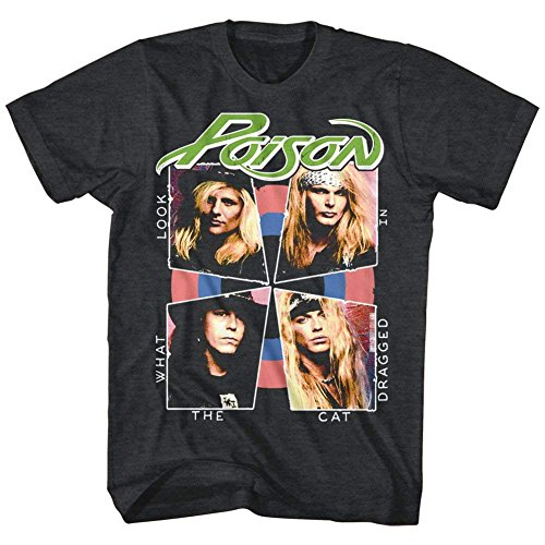 Officially Licensed Poison Look What The Cat Dragged in T-Shirt (1986 album sleeve), S to 5XL