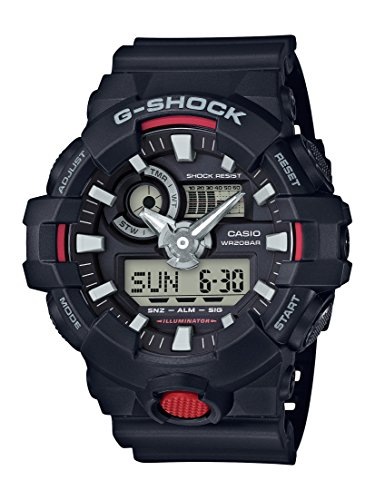 Casio Reloj Analogico para Hombre de Cuarzo con Correa en Resina GA-700-1AER