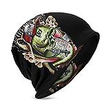 MORGAN MYERS Yelawolf Knit Hat Children Teenager Knit Hats Fashion Casual Beanie Hat 3D Pattern Skull Hat Unisex Knit Cap