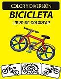 Libro de colorear de bicicletas: 30 dibujos de bicicletas para colorear para niños
