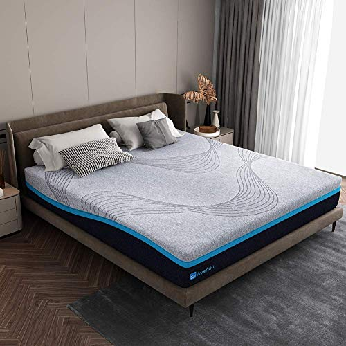 Avenco Matratze 140x200, H3 Harte Matratze, Hochwertige Kaltschaummatratze mit waschbarem Bezug, Höhe 18 cm, grau