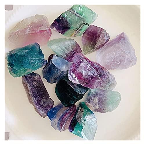 JSJJAWA lámpara de Pared 100G Natural Rainbow Fluorite Crudo Crudo Cuarzo Muestra Mineral Reiki Healing Gemstone Aquarium Craft 2-3cm Random (Größe : 100g)