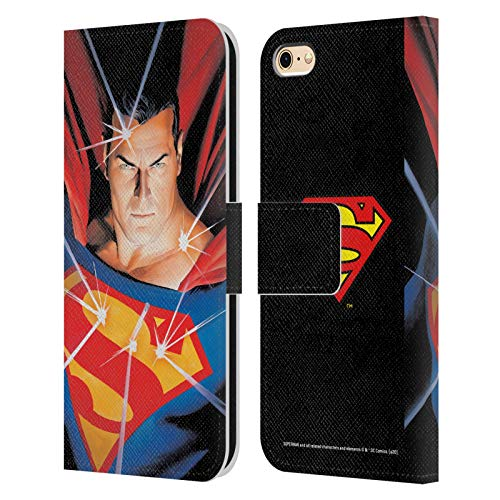 Head Case Designs Officially Licensed Superman DC Comics Alex Ross Mythology Famous Comic Book Covers Leather Book Wallet Case Cover Compatible with Apple iPhone 6 / iPhone 6s