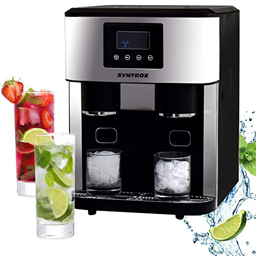 Syntrox Germany IC-150W-LED Helsinki Eiswürfelbereiter Crushed Ice Maker, Eisen