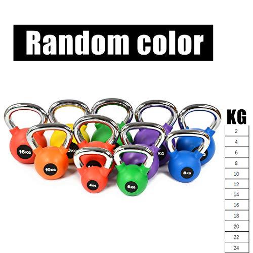 YQSB Kettlebell Set Professionelle Fitnessgeräte aus Gusseisen Muskeltraining Männer und Frauen 4-24 kg (zufällige Farbe),Random-Color,4KG