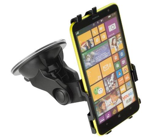 yayago kfz Halterung 360° drehbar für Nokia Lumia 1320 kfz Halter Autohalterung + yayago kfz Ladekabel mit Aufrollfunktion für Nokia Lumia 1320