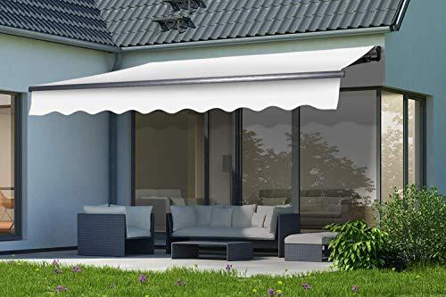 empasa elektrische Gelenkarmmarkise Markise Sonnenmarkise Sonnenschutz Größe 350 x 250 cm
