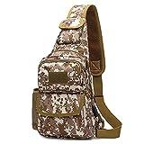 Mochila Assault Pack Bolso de Hombro Backpack con Toma USB Hebilla de Doble Anilla 20L Paño de Oxford Impermeable Unisexo,A3