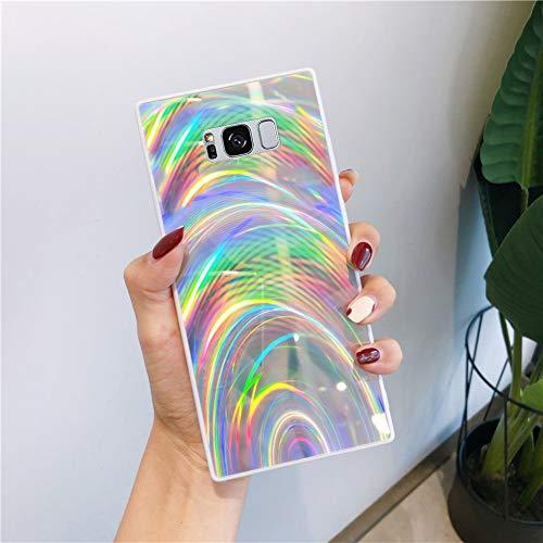 Urhause Kompatibel mit Samsung Galaxy S8 Hülle Funkeln Glitzer Gelee Blendend Muster TPU Silikon Weiche Schutzhülle Bunt Bling Glitter Sparkle Case Hülle Bumper Stoßfestigkeit Handytasche Silber