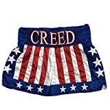 Adonis Creed Hollywood Donnie Johnson Boxing Shorts Stitch Sewn Size (Waist 28)