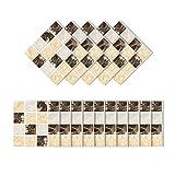 VOSAREA 15 Piezas calcomanías de Pared 3D Autoadhesivas Textura de Roca de Oro Negro patrón de...