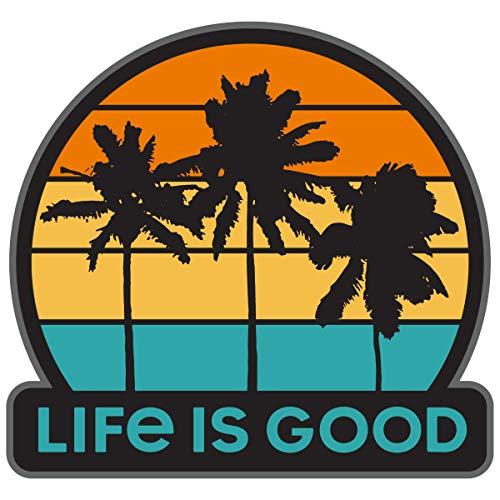 Life is Good. Sticker: Get Away Palms