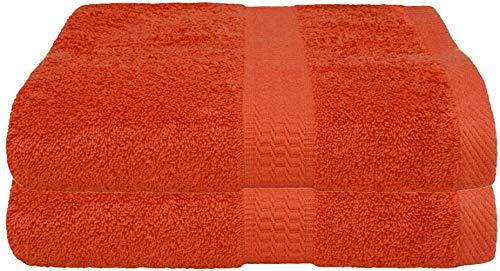 2er Pack Frottier Saunatuch, Saunatücher Set 80x200 cm 100% Baumwolle in 15 modernen Farben Terra