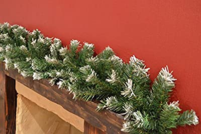 9ft Green Snow Tipped Christmas Garland By Premier