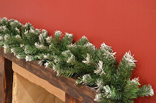 Premier 270cm (9ft) x 25cm Snow Tipped Green Christmas Garland Decoration