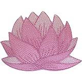 ELLU Parche de Flores Rosadas para Coser en Falda de Vestir Camiseta con Insignia Bordada Floral