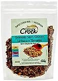 Granola sem Glúten sem Adição de Açúcar Linhaça e Tâmaras com Aveia sem Glúten Cereal Crock 200g