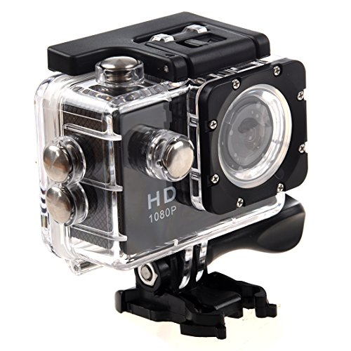 SODIAL(R)WIFI Action Sports Cam Camera Waterproof Full HD H264 1080p Videocamera Subacquea DV Action Sport Video Camera (Nero)