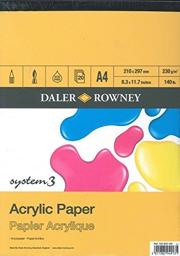 Daler Rowney Acrylic Pad, 20 sheets, 230g/m2 A3 by Daler Rowney
