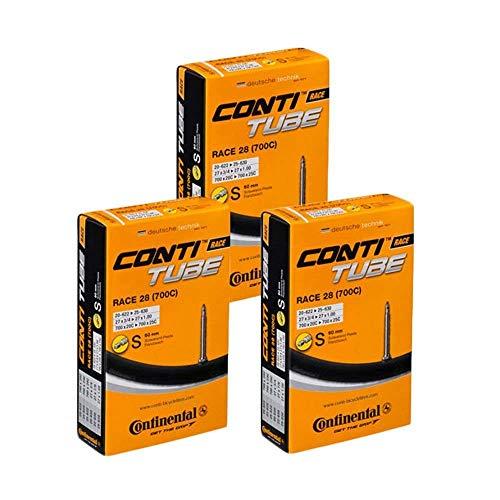Continental Race 28 700 x 20-25c Bike Inner Tubes (Pack of 3) - Presta 60mm Long Valve