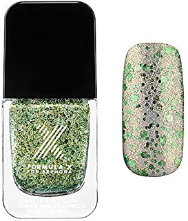 Sparklers Nail Polish Formula X for Sephora 0.4 Oz Drawn to You - Champagne and Green 3d Glitter