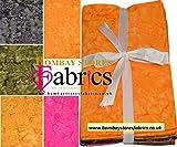 Batik Fat Quarter Bündel – Stoff zum Basteln, 100%