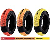 MATRIX Reifenwärmer Tire Warmers RACEFOXX PRO DIGITAL bis 99°C Heiztemperatur SUPERBIKE, 120/17 vorne und 180-200/17 hinten Rennsport Heizdecken Motorradreifen