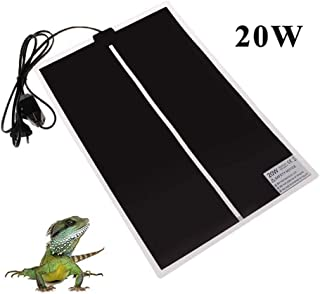 TESLUCK Reptile Heating Pad, 14W/ 20W Waterproof Reptile Heat Pad Under Tank Terrarium with Temperature Control, Safety Adjustable Reptile Heat Mat for Turtle, Tortoise, Snakes, Lizard