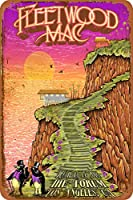 フリートウッドマックペンギントレイルさびた錫のサインヴィンテージアルミニウムプラークアートポスター装飾面白い鉄の絵の個性安全標識警告アニメゲームフィルムバースクールカフェ40cm*30
