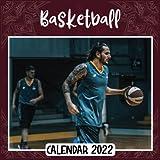 Basketball 2022 Calendar: Basketball mini calendar 2022 2023, Basketball 2022 Planner with Monthly Tabs and Notes Section, Basketball Monthly Square Calendar with 18 Exclusive Photos