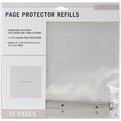 K&Company Post Bound Scrapbook Album Page Protector Refill Pack, Multicolor