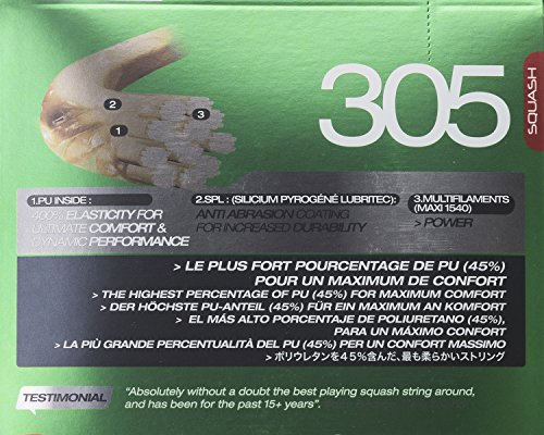 Tecnifibre 305 1.20 (17 Gauge) Green Squash String Set