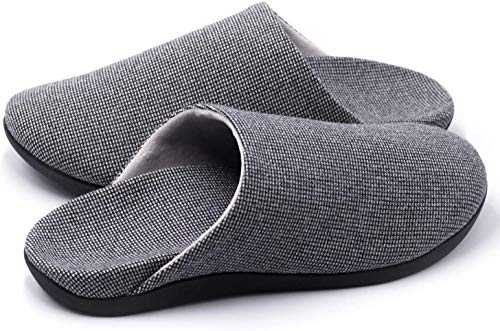 V.Step Slippers with Arch Support, Comfortable Orthopedic Sandals for Plantar Fasciitis Flat Foot House Outdoor, Grey, Women US 9