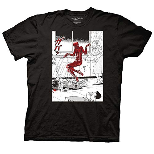 Ripple Junction Junji Ito Adult Unisex Popping Out of Skin Light Weight 100% Cotton Crew T-Shirt SM Black