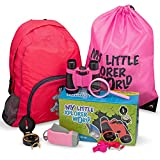 Upgraded Outdoor Exploration Kit with Toy Binoculars for Kids, Outdoor Toys include Magnifying