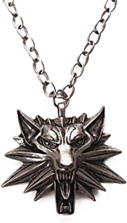 Vintage Wolf Head Pendant The Witcher 3 Wild Hunt Figure Game Wizard Witcher 3 Medallion Necklace